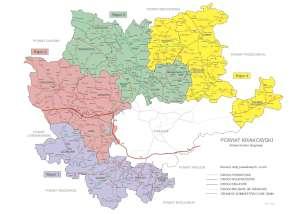 Schemat dróg powiatowych