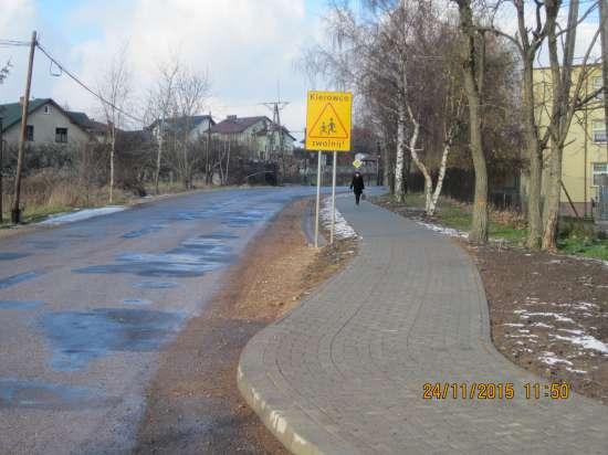 Przeginia – budowa chodnika przy Zespole Szkół