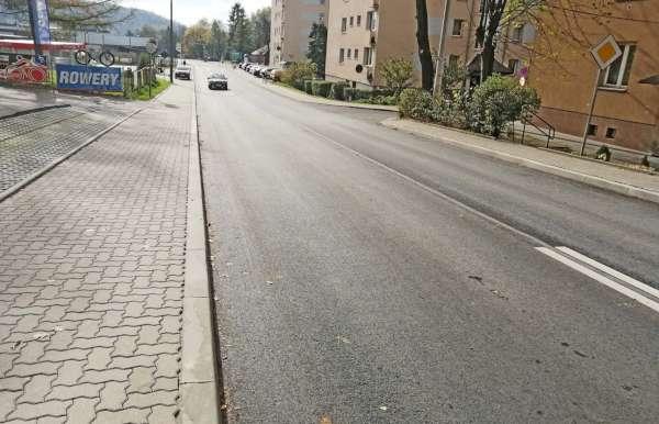 Widok drogi 2126K po modernizacji